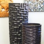 Fiberglass tall planters