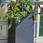 ruben tall square planter fiberglass