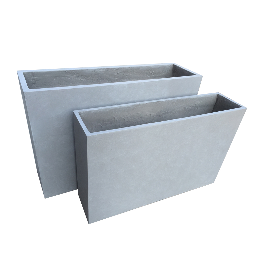 Winterproof rectangle planter
