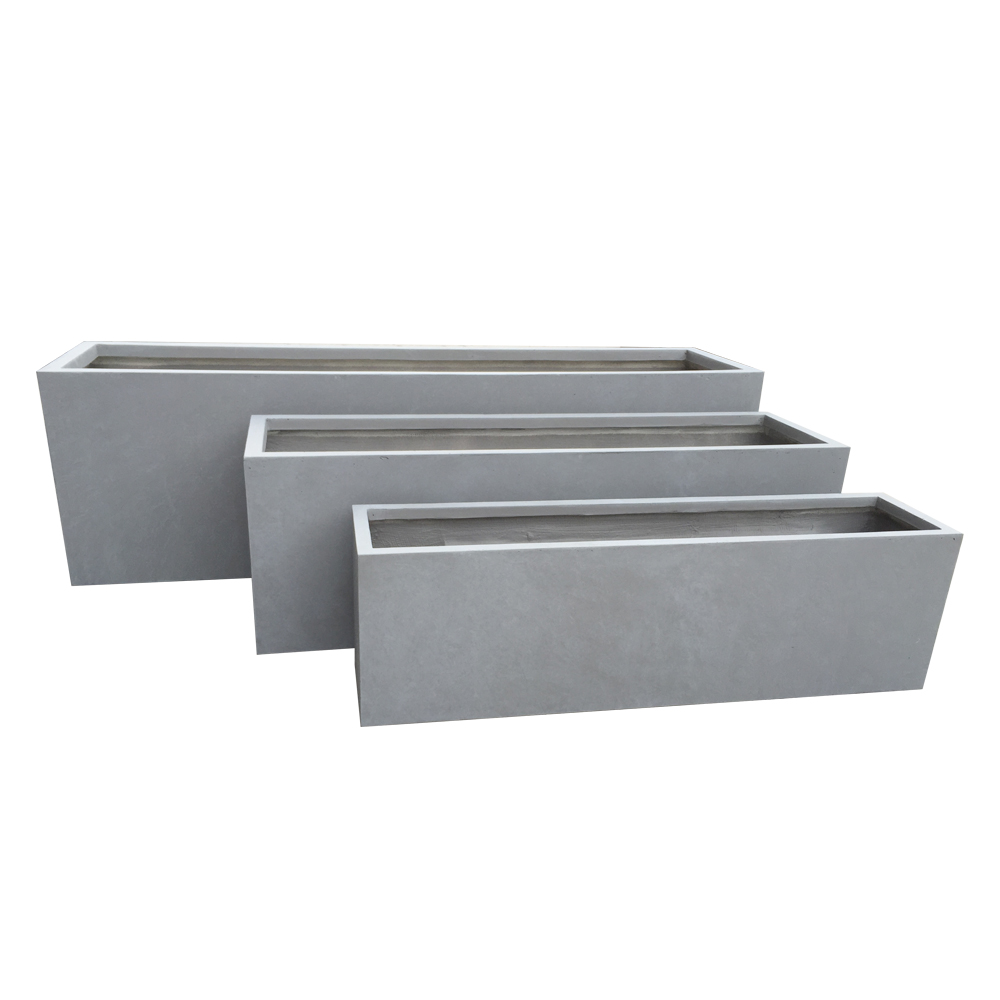 Winterproof rectangle planter
